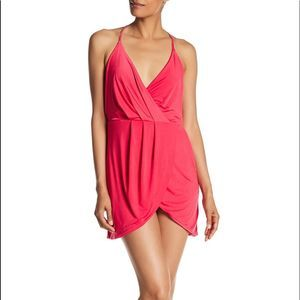 Lovers + Friends Revolve Pink Wrap Dress